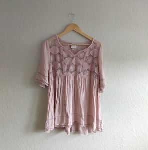 Blush Boho top size Large